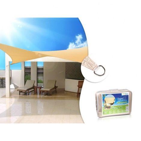 Vela patio zacieniacz UV poliestere 3.6m Quadrato GreenBlue GB503 cremoso superficie idrofoba