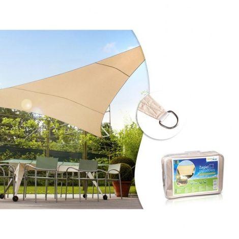 Vela patio zacieniacz UV poliestere 5m triangolo GreenBlue GB502 superficie idrofoba cremoso