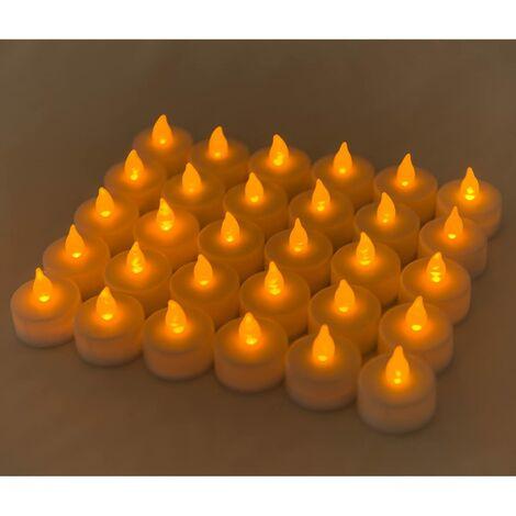 Velas LED realistas, 30pcs de 3.8 x 3.7 cm, Ideales para Navidad, Halloween, Fiestas y celebraciones, Color amarillo