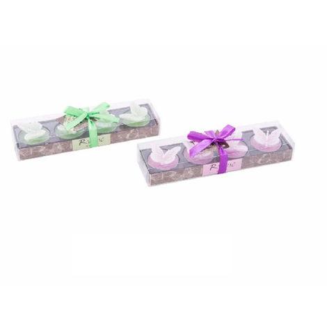 Velas perfumadas - Modelo mariposa . Set 4 velas Rosa