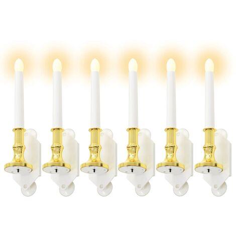 Velas solares 6 unidades luz LED blanco cálido