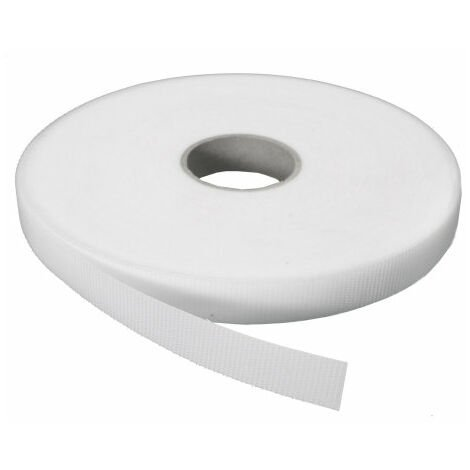VELCRO MACHO ADHESIVO BLANCO 20 MM 25 MT