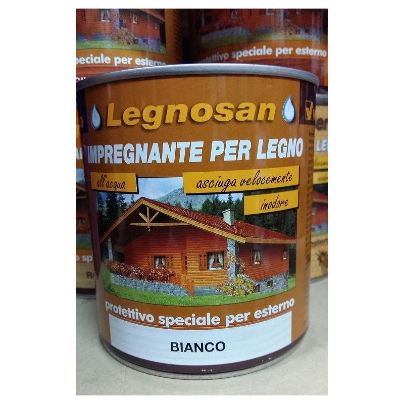 Image of Veleca Legnosan Impregnante Per Legno Pronto All'uso x Esterno Bianco 750 ML
