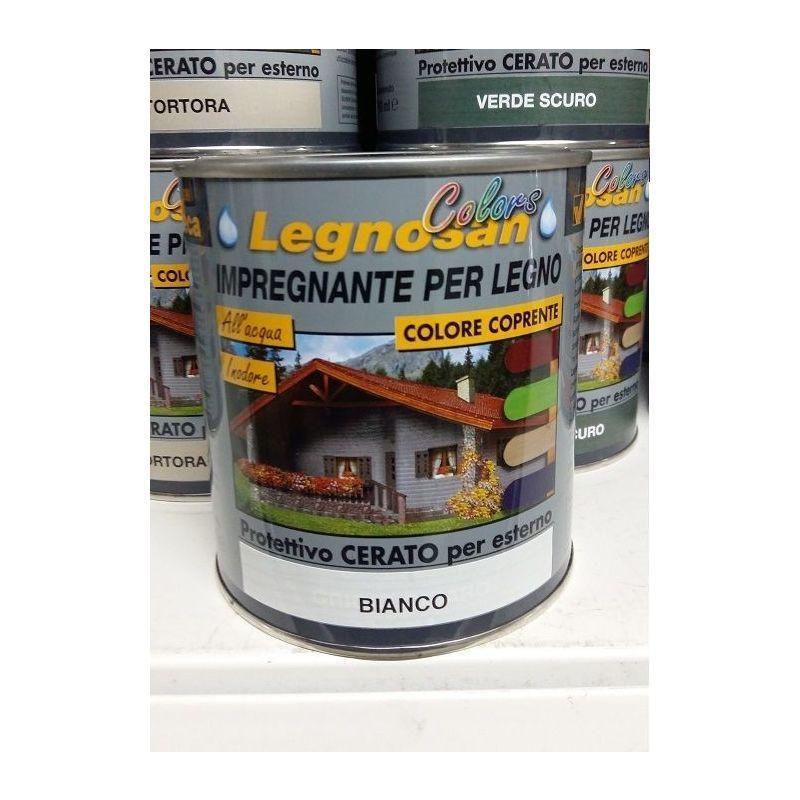 Image of VELECA IMPREGNANTE IDROREPELLENTE PER LEGNO ALL'ACQUA LEGNOSAN COLORS 750ML Bianco