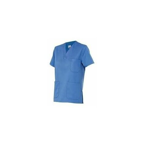 Velilla Camisa Pijama Pico M/Corta Celeste 10