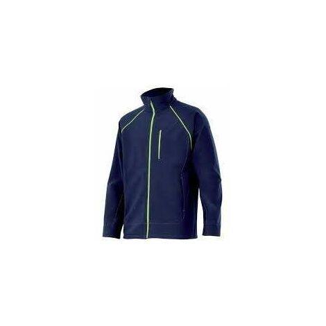 Velilla Cazadora 206001 Softshell Azul Marino Linea Amarilla Fluor 54/56 Xl