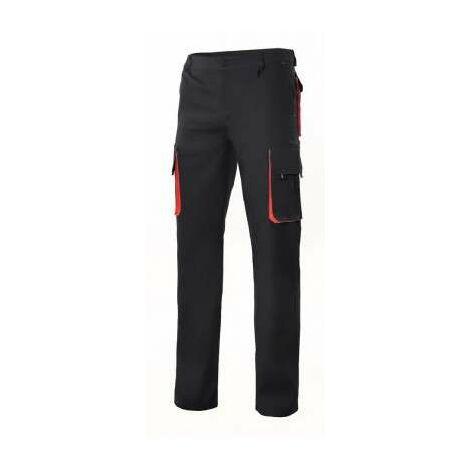 "main image of ""Velilla Pantalon 103004 Multibolsillo Negro Bolsillo Rojo 38"""