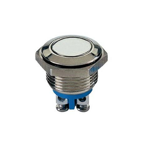 Velleman Bouton-poussoir plat en acier inoxydable SPST 1NO (R1800F)