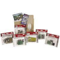 Velleman Lot d'initiation minikits MK101, 102, 109, 113, 120, 127 avec ruban porte-kits (MKSET1)