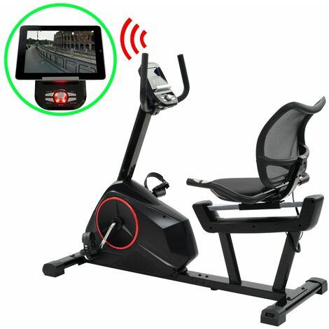 Vélo d'exercice magnétique couché Mesure du pouls Programmable