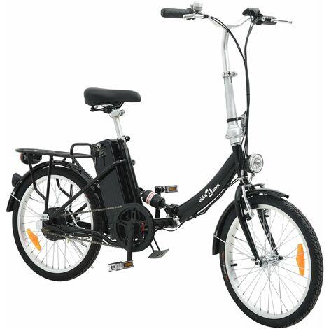 """main image of """"vidaXL Vélo Électrique Pliable Alliage d'Aluminium et Batterie Lithium-ion Trottinette Scooter Argenté/Noir"""""""
