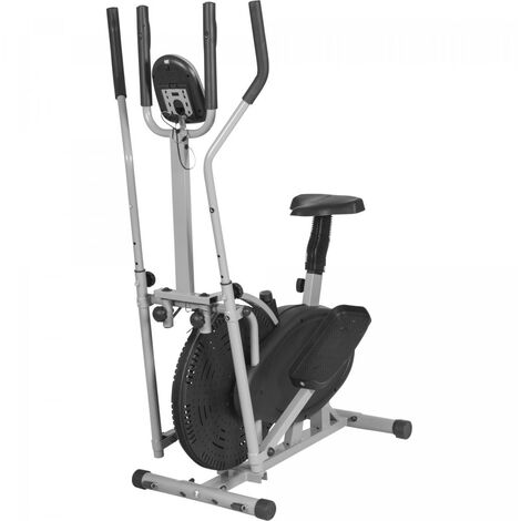 """main image of """"Vélo elliptique gris - Cross trainer - mixte adult Gorilla Sports"""""""