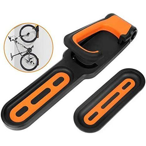 Vélo Mural Hanger, Crochet de Rangement Pliable, Stand Parking avec des Tampons de Pneus Vertical Porte-vélos pour L'affichage Vélos