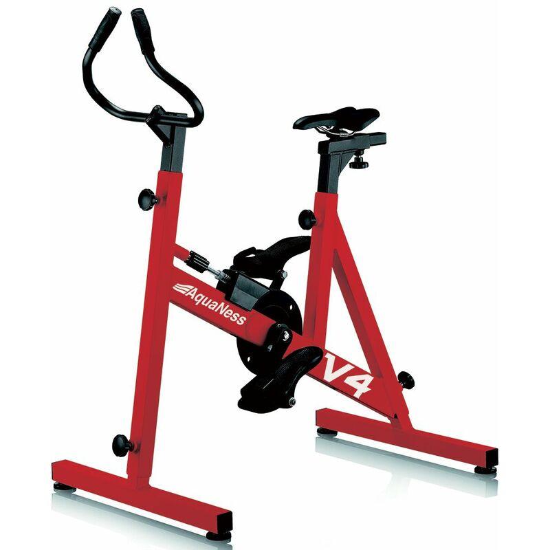 Vélo de piscine aquabike aquaness v4 rouge