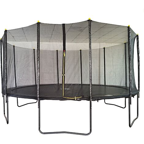 """main image of """"Velocity 16ft Powder Coated Trampoline with Safety Enclosure"""""""