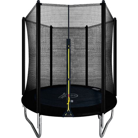 """main image of """"Velocity 6ft Trampoline with Enclosure Black"""""""
