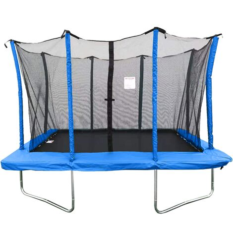 """main image of """"Velocity 8x12ft Blue Rectangular Trampoline With Safety Enclosure"""""""