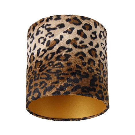Velor lampshade leopard design 20/20/20 gold inside