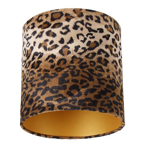 Velor lampshade leopard design 25/25/25 gold inside
