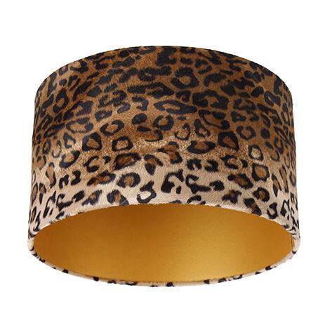 Velor lampshade leopard design 35/35/20 gold inside