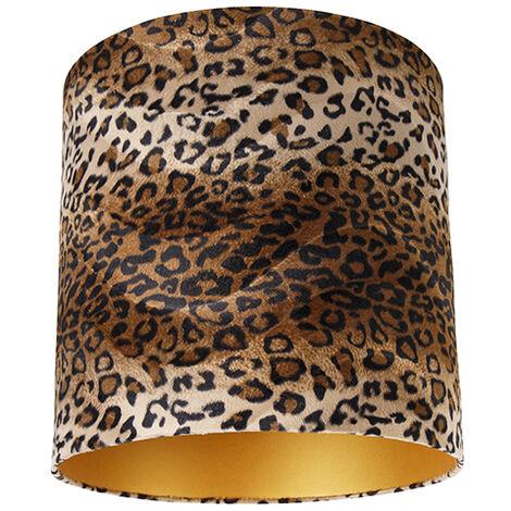 Velor lampshade leopard design 40/40/40 gold inside