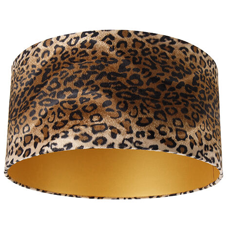 Velor lampshade leopard design 50/50/25 gold inside