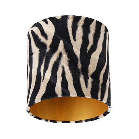 Velor lampshade zebra design 20/20/20 gold inside