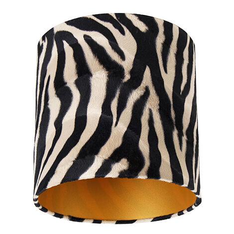 Velor lampshade zebra design 25/25/25 gold inside