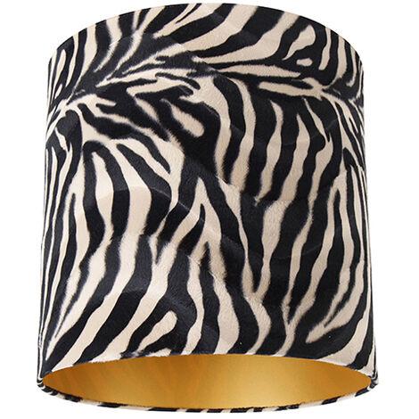 Velor lampshade zebra design 40/40/40 gold inside