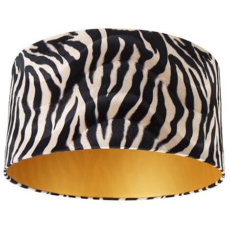 Velor lampshade zebra design 50/50/25 gold inside