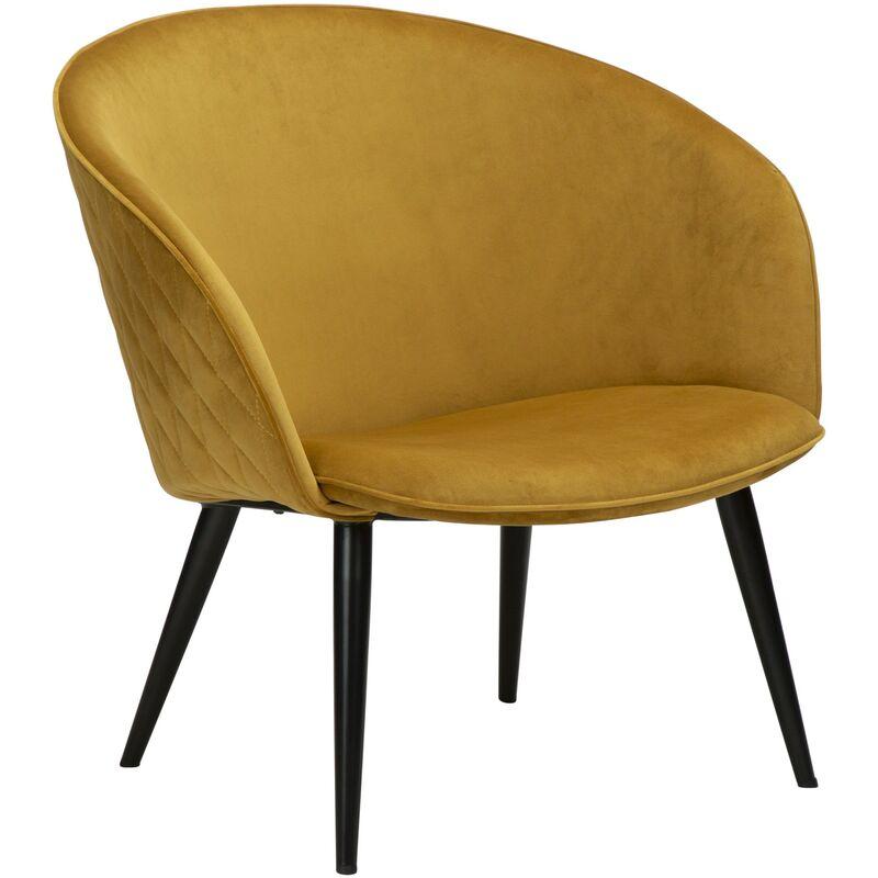 Velours Sessel Danform Dual gelb Polstersessel Loungesessel Clubsessel 52-700800695 - PKLINE