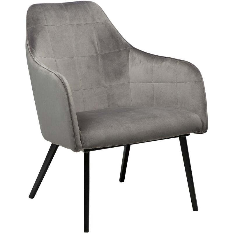 Velours Sessel Danform Embrace grau Polstersessel Loungesessel Clubsessel 52-700801600 - PKLINE