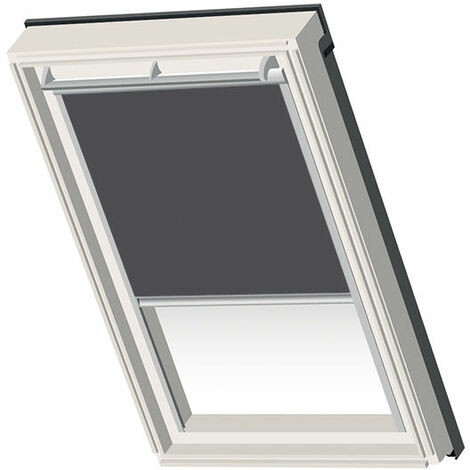 Velux ® Compatible Blackout Blind – 102 – Charcoal grey - Silver Frame