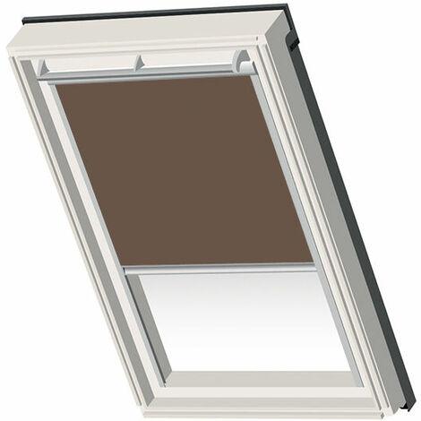 Velux ® Compatible Blackout Blind – SK08 – Chocolate - Silver Frame