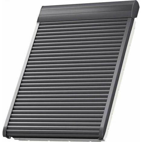 VELUX Elektro-Rollladen SML MK04 0000S Aluminium dunkelgrau 78x98cm
