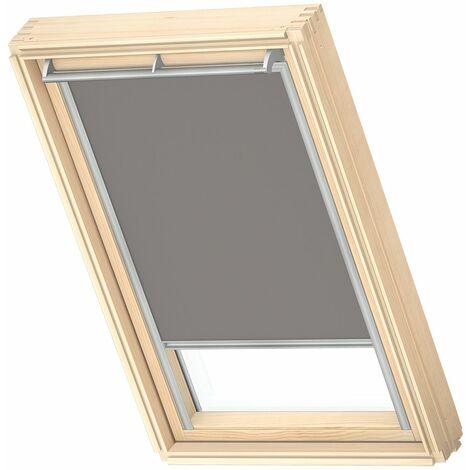 VELUX store occultant (DKL) original, cadre argenté, pour fenêtre de toit VELUX SK08 - Bleu Clair