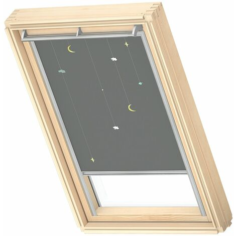 VELUX store occultant (DKL) original, collection enfants, cadre argenté, pour fenêtre de toit VELUX U04, 804, 7 - Cerf-Volants