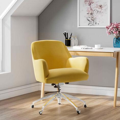 Velvet Adjustable Swivel Office Chair