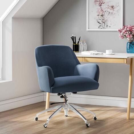 """main image of """"Velvet Adjustable Swivel Office Chair"""""""
