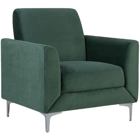 Velvet Armchair Green FENES