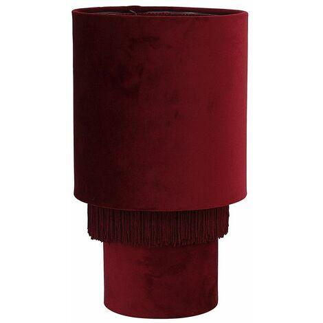 Velvet Bedside Table Lamp Lounge Light Tassel Lampshade Lightbulb Chic Home