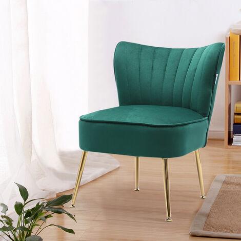 Velvet Cocktail Accent Chair