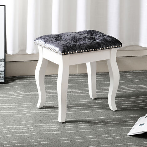 Velvet Dressing Table Stool Bedroom Chair Vanity Makeup Stool