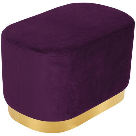 Velvet Foot Stool Rest Ottoman Coffee Table Gold Base