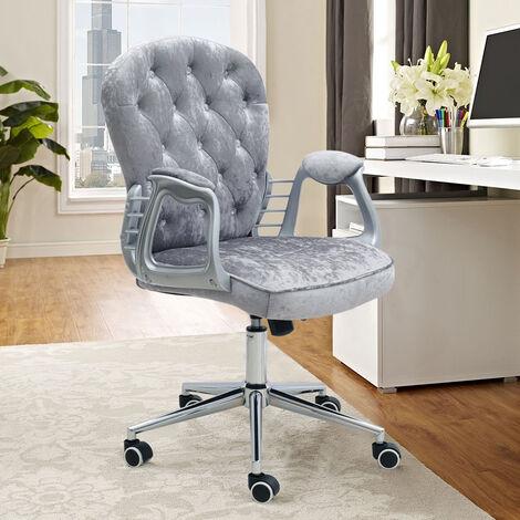 Velvet Gas Lift Swivel Study Computer Office Chair