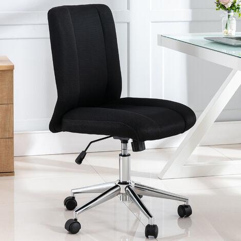 Velvet Office Chair Swivel Chair Desk Chair Luxurious Cushion for Home Office, Black