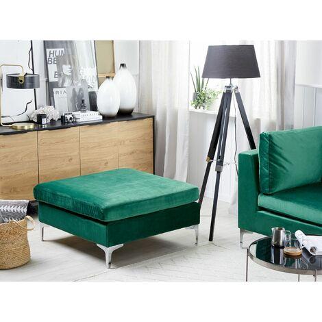Velvet Ottoman Green EVJA