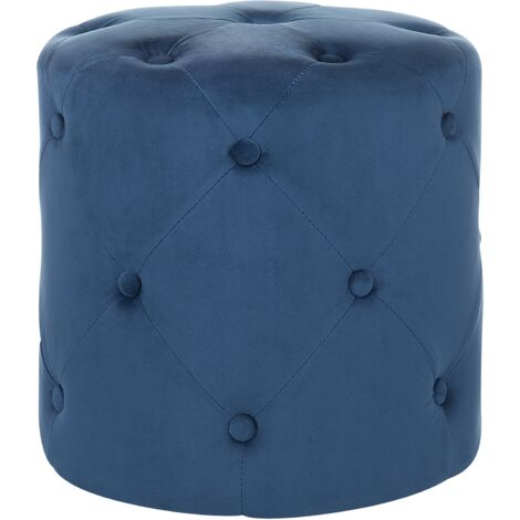 Velvet Pouffe Dark Blue COROLLA