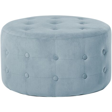 Velvet Pouffe Footstool Grey TAMPA