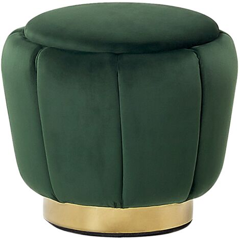Velvet Pouffe Green IRVING